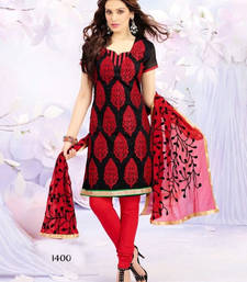 Buy Red And Black Salwar Kameez dress online