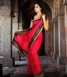 Buy Rani Pink Dupion Silk Saree silk-saree online
