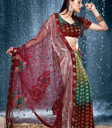 Buy Hypnotex Multi Color Viscos Tissue Saree Jewel517 viscose-saree online