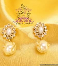 Buy Pearl & Zircon Earrings danglers-drop online