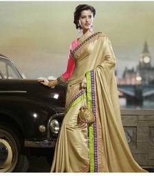 Buy DESIGNER GOLDEN SAREE satin-saree online