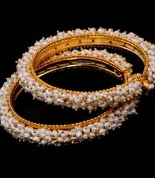 Buy REAL PEARLS SEED PEARLS BANGLES FROM HYDERABAD(SRIDEVI BANGLE bangles-and-bracelet online