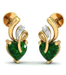 Buy 0.034ct diamond studs 18kt gold earrings gemstone-earring online