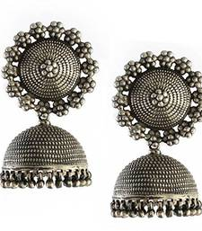 Buy silver Beads Studded Beautiful Designer Jhumki jhumka online