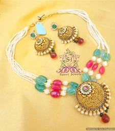 Buy Designer Filigree Polki Set  necklace-set online
