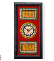 Buy Hand painted Dhokra work Wall Clock gifts-for-mom online
