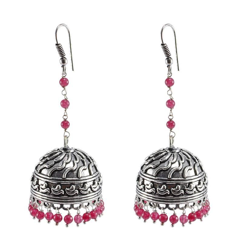 buy rajasthani jewellery with pink quartz beadswire