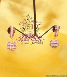 Buy Glamourous Ruby & Diamond Look Danglers danglers-drop online
