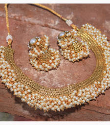 Buy Evergreen Gold plated antique necklace set Necklace online