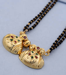 Buy Gold crystal mangalsutra mangalsutra online