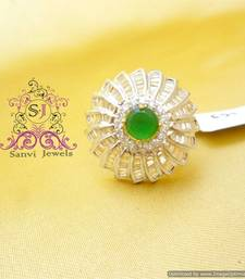 Buy Gorgeous Emerald Zircon Adjustable Ring Ring online