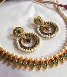 Multi color Pearl Necklace shop online