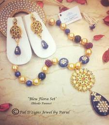 Buy Bleu Flora Set (Rhodo Panno) necklace-set online