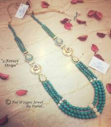 Buy 3-Ferozi Strips (Neckline) Necklace online