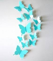 Buy Sky Blue 3D Butterflies' Wall Sticker (13 cm X 15 cm) wall-decal online