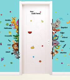 Buy Zoo Animals' Wall Sticker (50 cm X 70 cm) wall-decal online