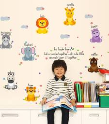 Buy Kids - Animals Cartoons' Wall Sticker (50 cm X 70 cm) wall-decal online