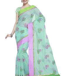 Buy sea green  Cotton Handloom Traditional Saree kota-silk-saree online