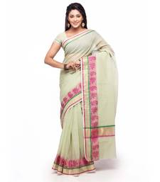 Buy Green Cotton Handloom Traditional Saree kota-silk-saree online