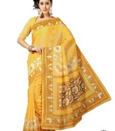Buy Aria yellow cotton printed saree ks326 cotton-saree online