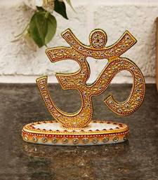 Buy eCraftIndia Graceful Marble Crafted Om Show Piece sculpture online