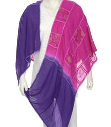 Buy Just Women - Dark Magenta & Ink Blue Coloured Anarkali Dupatta stole-and-dupatta online