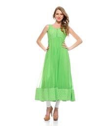 Buy Green Georgette Kurti kurtas-and-kurti online