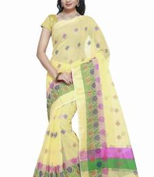 Buy Yellow embroidered kota silk saree with blouse kota-silk-saree online