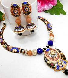 Buy Meenakari Ethnic Pipe Necklace  3 Necklace online