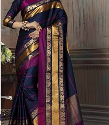 Buy Multicolor printed cotton silk saree with blouse manipuri-silk-saree online