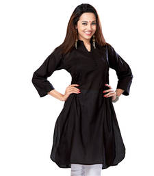 Buy Hypnotexblack Cotton Kurti Chori5A kurtas-and-kurti online