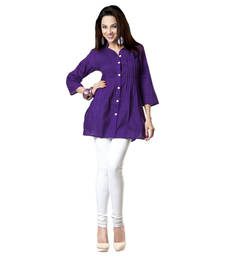 Buy Hypnotexpurple Cotton Kurti Chori1E kurtas-and-kurti online