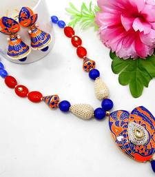 Buy Meenakari Ethnic Neck Ear Set 29 Necklace online