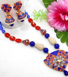 Buy Meenakari Ethnic Neck Ear Set 38 Necklace online