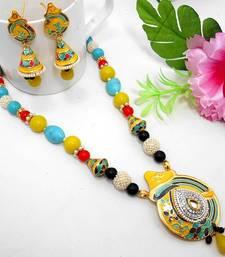 Buy Meenakari Ethnic Neck Ear Set 49 Necklace online