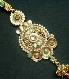 Buy Aria gold tone kundan cz waist keychain bj2 key-chain online