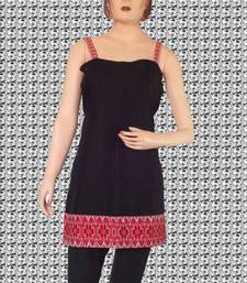 Buy Ethnic Touch - Black and Red Kurti with Red weaving kurtas-and-kurti online