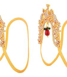 Buy golden plated Ruby  bajuband bajuband online