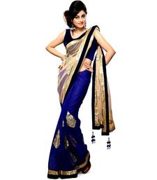 Buy Party Wear Net Chiffon Sarees T-205 party-wear-saree online