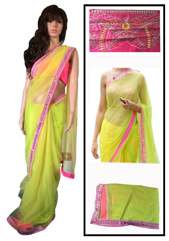 Buy Deepika Padukone in Lemon Sari Online
