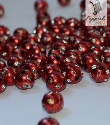 Buy Red Polka Dot Beads  (300 + 50 pcs) stationery online