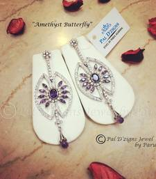 Buy Amethyst Butterfly Earing danglers-drop online