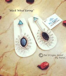 Buy Black Wheel Easring danglers-drop online