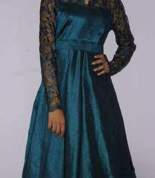 Buy Raw silk and lace dress dress online
