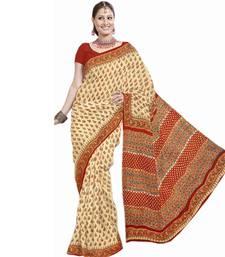 Buy Designer Kota Doria Bagru Print Cotton Saree 194 cotton-saree online