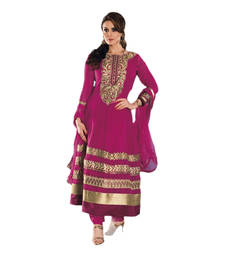 Buy Hypnotex Pink Georgette Dress Material Tulsi9107 dress-material online