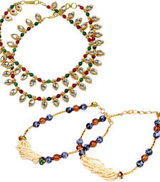 Buy Buy Designer Brass Payal n Get Another Payal Free jewellery-combo online