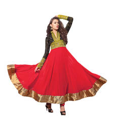Buy Hypnotex Maroon Georgette Semi-Stitched Anarkali Suit Singham11003 semi-stitched-salwar-suit online