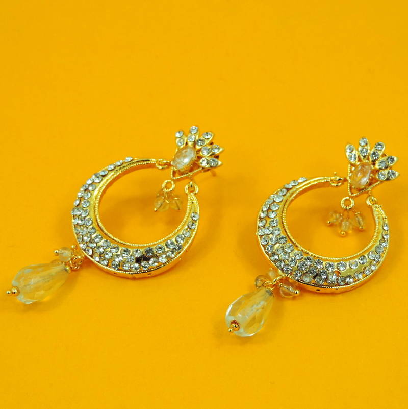 Buy Beautiful Gift Silver Chand Bali Earrings Jewelry For ...