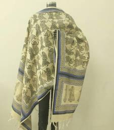 Buy Garba print jute cotton dupatta stole-and-dupatta online